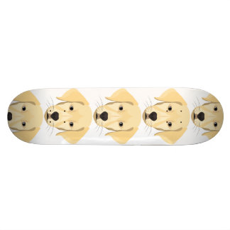 Illustration Puppy Golden Retriver Skateboards