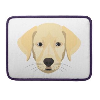 Illustration Puppy Golden Retriver Sleeve For MacBooks