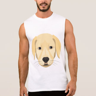 Illustration Puppy Golden Retriver Sleeveless Shirt