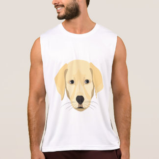 Illustration Puppy Golden Retriver Tank Top