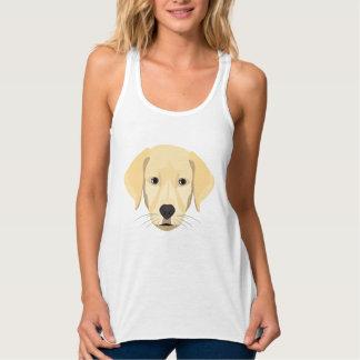 Illustration Puppy Golden Retriver Tank Top