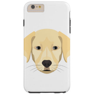 Illustration Puppy Golden Retriver Tough iPhone 6 Plus Case