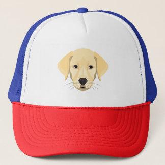 Illustration Puppy Golden Retriver Trucker Hat