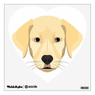 Illustration Puppy Golden Retriver Wall Decal