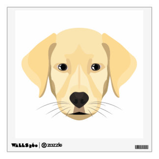 Illustration Puppy Golden Retriver Wall Decal