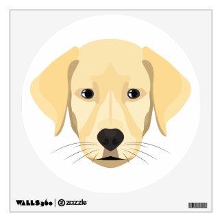 Illustration Puppy Golden Retriver Wall Sticker