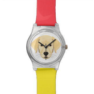 Illustration Puppy Golden Retriver Watch