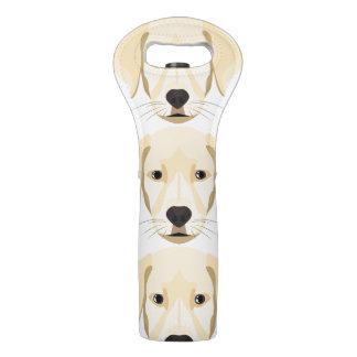 Illustration Puppy Golden Retriver Wine Bag
