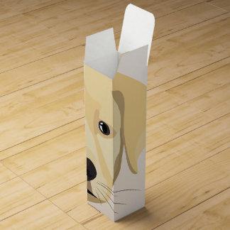 Illustration Puppy Golden Retriver Wine Gift Box