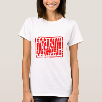 Illustration - Red stamp - second hand in Dutch - T-Shirt