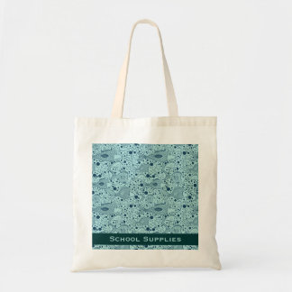 Illustration Style School of Fish in Teal Tote Bag