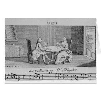 Illustration to Sheet Music by Joseph Haydn Card