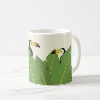 Illustration toucan tropical bird coffee mug