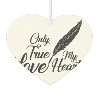 Illustration True Love Feather Air Freshener