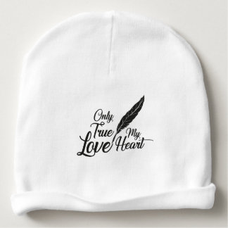 Illustration True Love Feather Baby Beanie