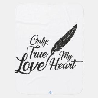 Illustration True Love Feather Baby Blanket