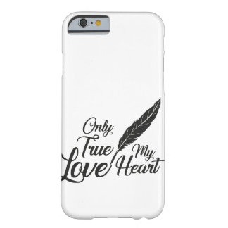 Illustration True Love Feather Barely There iPhone 6 Case