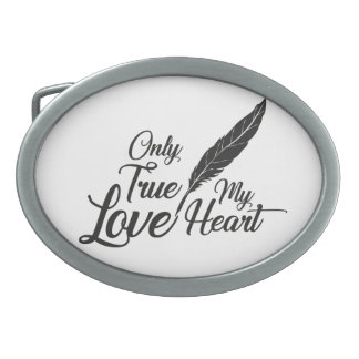 Illustration True Love Feather Belt Buckle