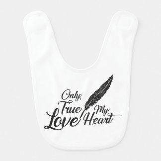 Illustration True Love Feather Bib