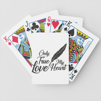 Illustration True Love Feather Bicycle Playing Cards