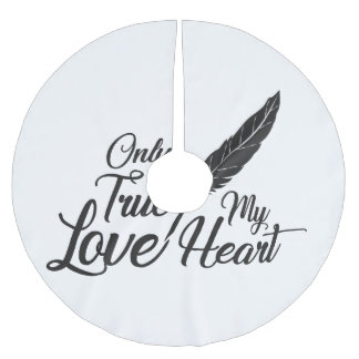 Illustration True Love Feather Brushed Polyester Tree Skirt