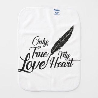 Illustration True Love Feather Burp Cloth