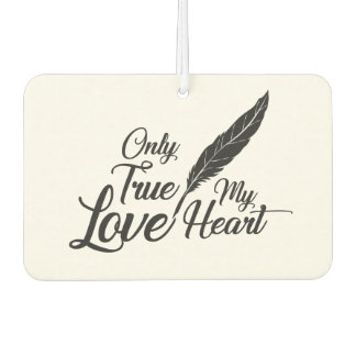 Illustration True Love Feather Car Air Freshener