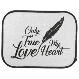 Illustration True Love Feather Car Mat