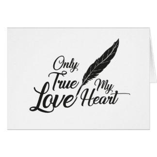 Illustration True Love Feather Card