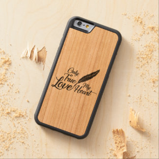 Illustration True Love Feather Carved Cherry iPhone 6 Bumper Case