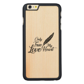 Illustration True Love Feather Carved Maple iPhone 6 Plus Case