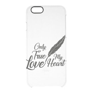 Illustration True Love Feather Clear iPhone 6/6S Case
