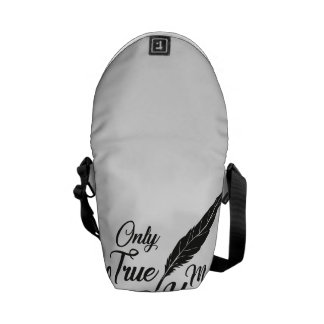 Illustration True Love Feather Courier Bag