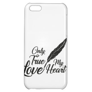 Illustration True Love Feather Cover For iPhone 5C