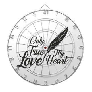 Illustration True Love Feather Dartboard