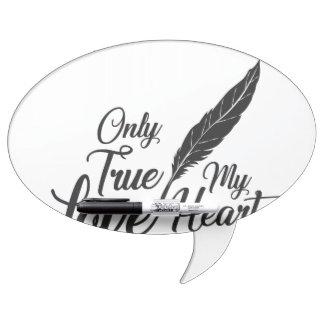 Illustration True Love Feather Dry Erase Board