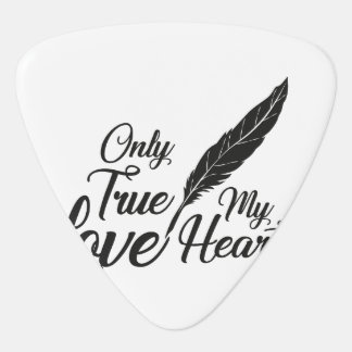 Illustration True Love Feather Guitar Pick