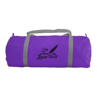 Illustration True Love Feather Gym Bag