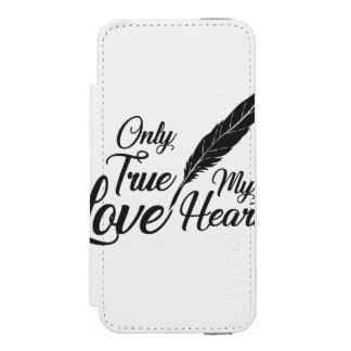 Illustration True Love Feather Incipio Watson™ iPhone 5 Wallet Case