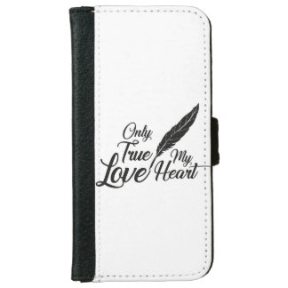 Illustration True Love Feather iPhone 6 Wallet Case