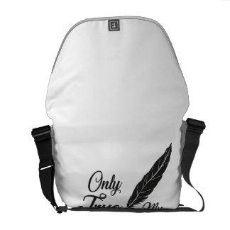 Illustration True Love Feather Messenger Bag