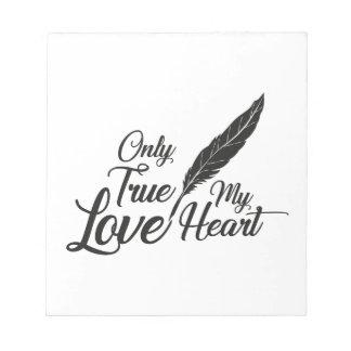 Illustration True Love Feather Notepad