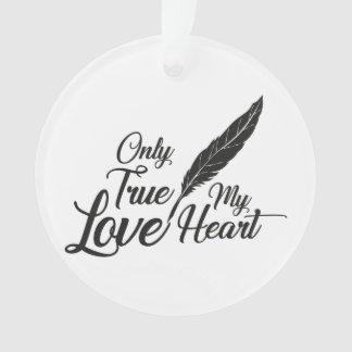 Illustration True Love Feather Ornament