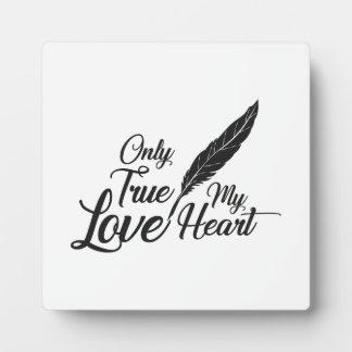 Illustration True Love Feather Plaque