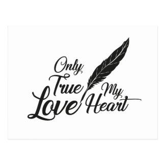Illustration True Love Feather Postcard