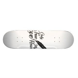 Illustration True Love Feather Skate Board Deck