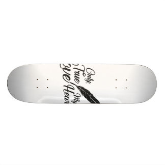 Illustration True Love Feather Skateboard Deck