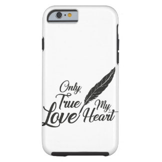 Illustration True Love Feather Tough iPhone 6 Case