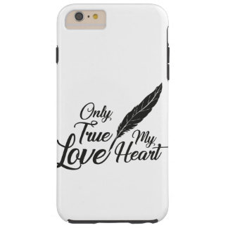Illustration True Love Feather Tough iPhone 6 Plus Case