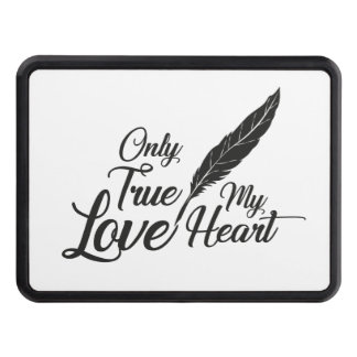 Illustration True Love Feather Trailer Hitch Cover